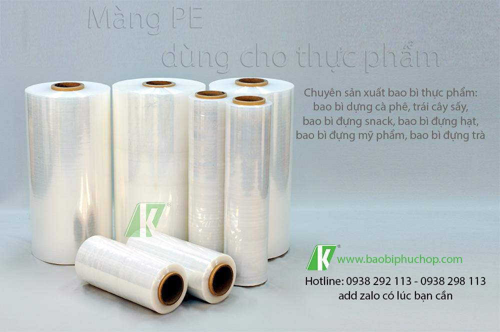 Tỷ trọng nhựa PE trong in ấn bao bì