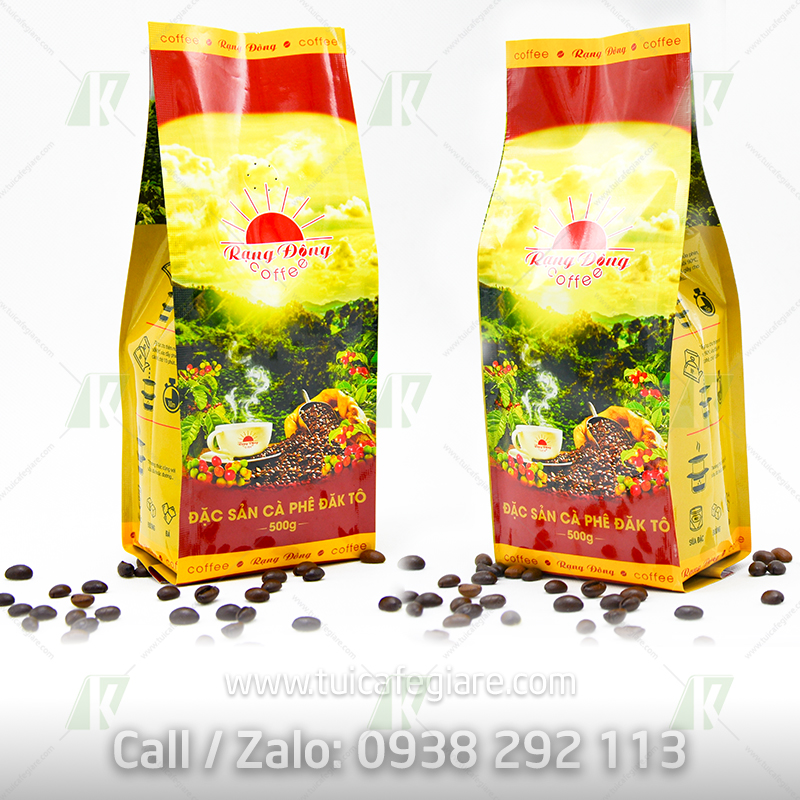 in túi cà phê chất lượng rạng đông - tuicafegiare.com