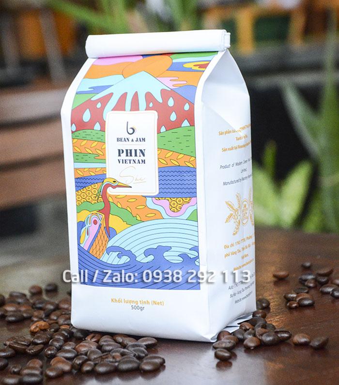 Bao bi cafe pha phin tui hong lech