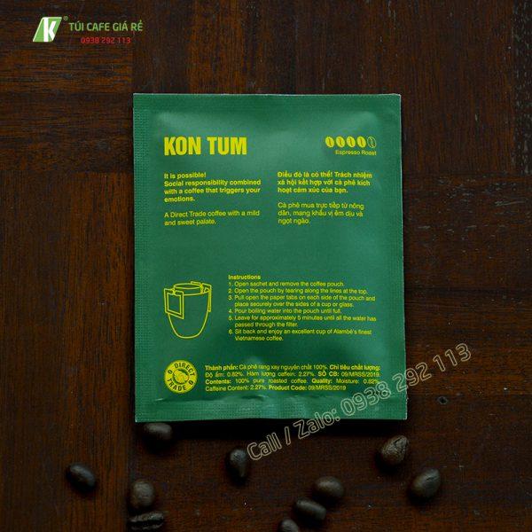 Mẫu gói giấy đựng cafe