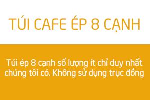 in túi cafe ép 8 cạnh