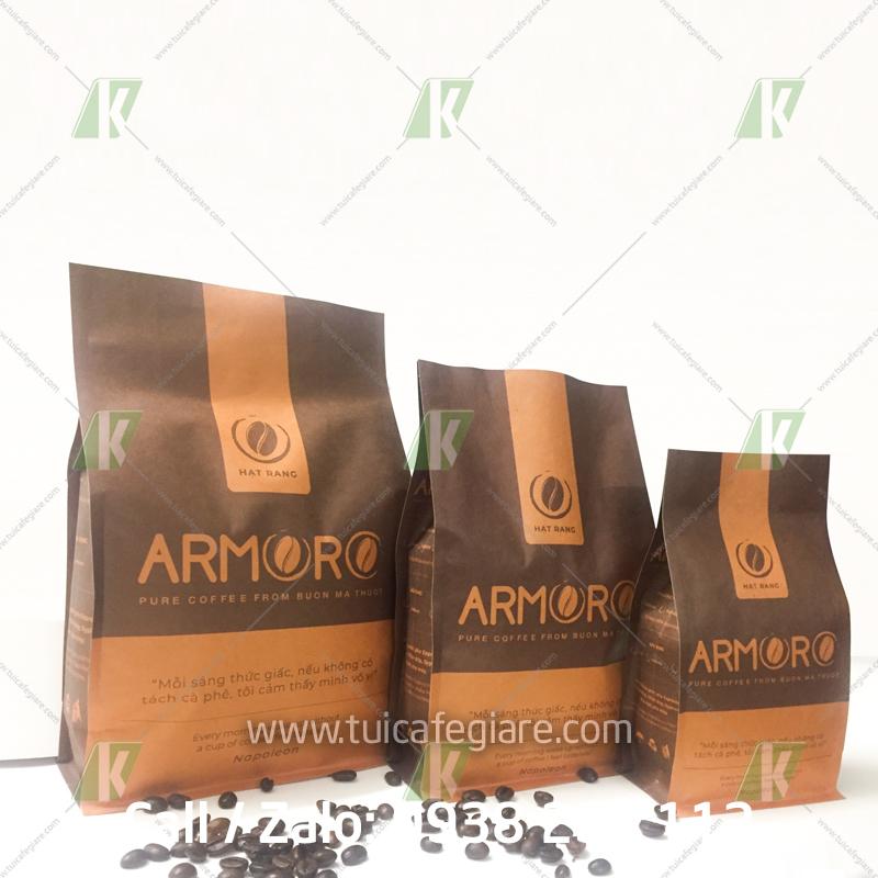 mẫu in bao bì cafe số lượng ít armoro - www.tuicafegiare.com