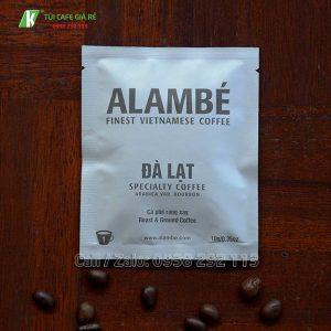 Túi giấy đựng cafe alambe Đà Lạt