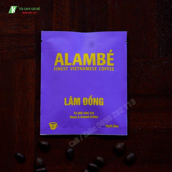 Túi đựng cafe alambe Lâm Đồng